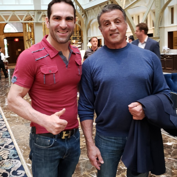 Israel Joffe and Sylvester Stallone
