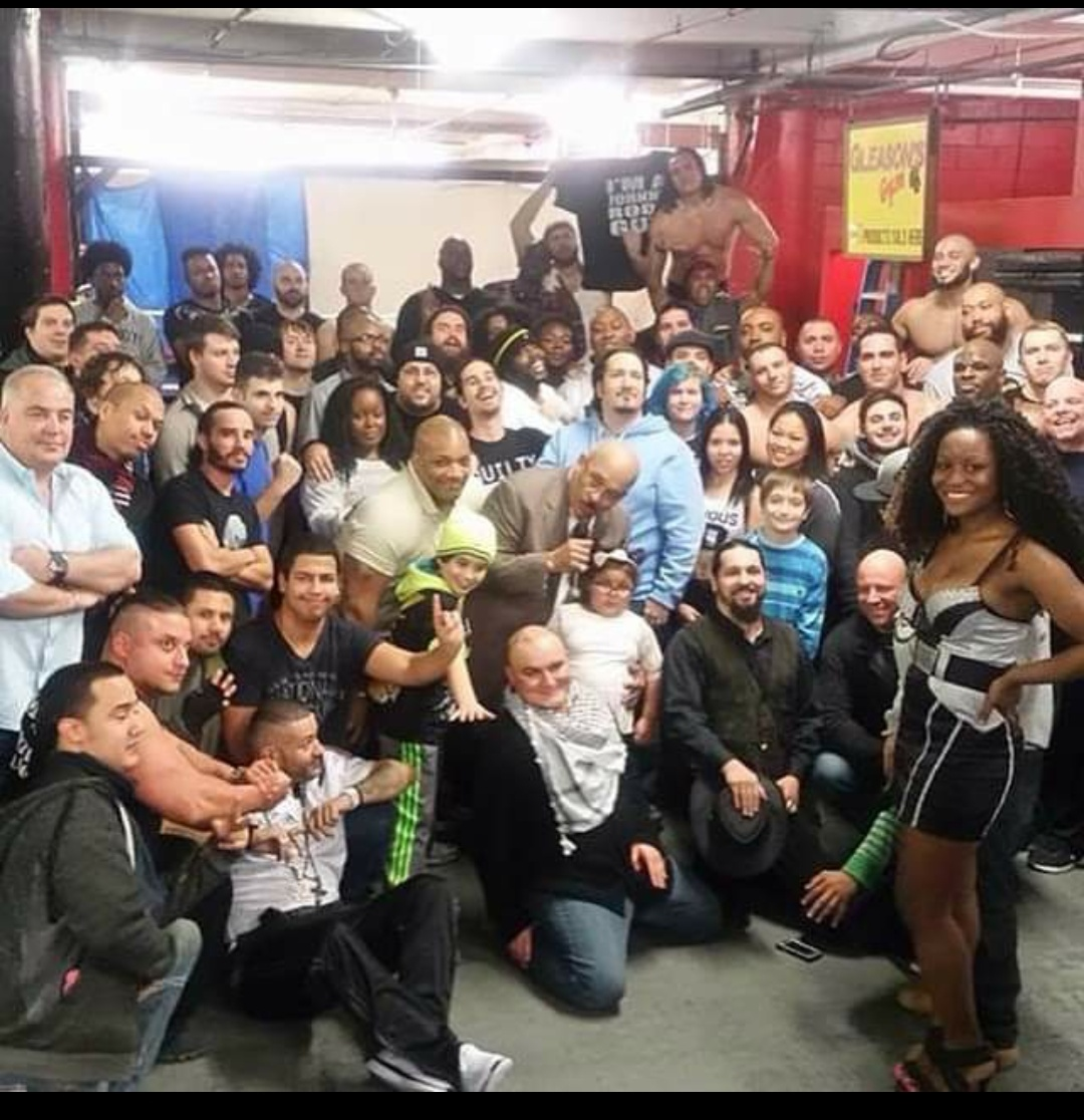 Wuw club members and WWE hall of famers Johnny Rodz and Dvon Dudley, Israel Joffe also pictured