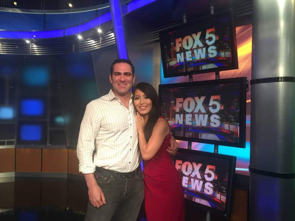 Israel Joffe and Fox 5 News Christina Park